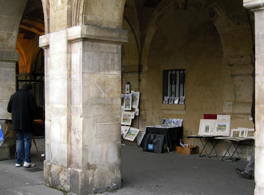 The guy who paints Place des Vosges by parisouailleurs