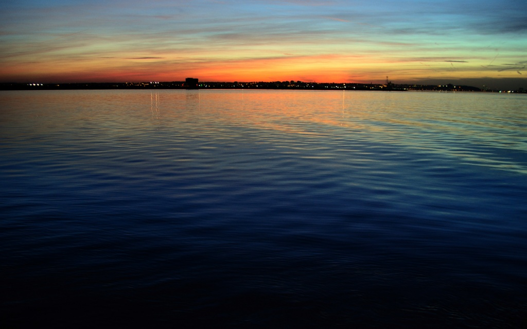 Sunset River by andycoleborn