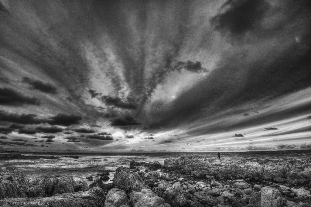 Asilomar Beach in B&W by pixelchix