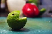 27th Feb 2011 - Mr. Lime eat Mr. Pepper Now.
