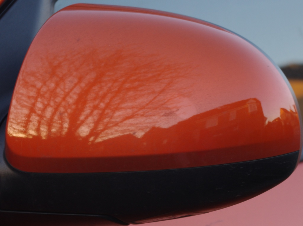 Wing mirror reflection  by karendalling