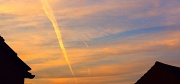 24th Mar 2011 - Sunset and vapour trails!