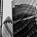 Lloyds, Gherkins and Reflections by andycoleborn