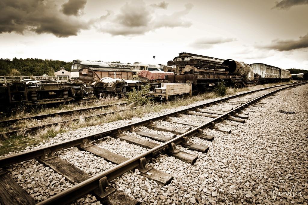 Vintage railway line by vikdaddy