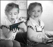 8th Apr 2011 - Aria trying to master Angry Birds.