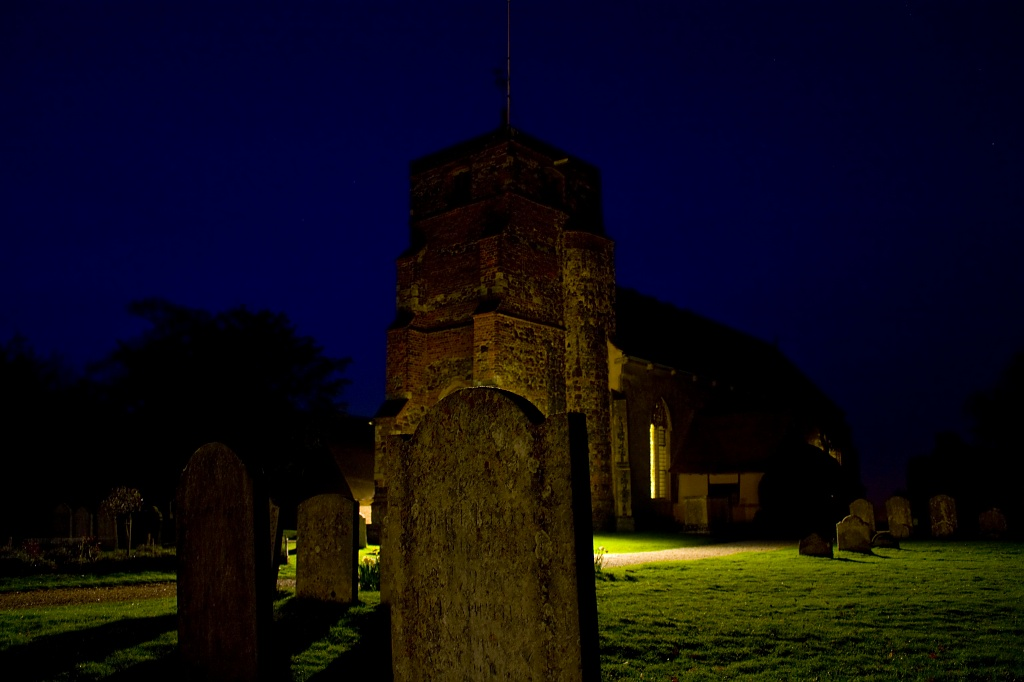 St Mary's Church and its annoying security light. by edpartridge
