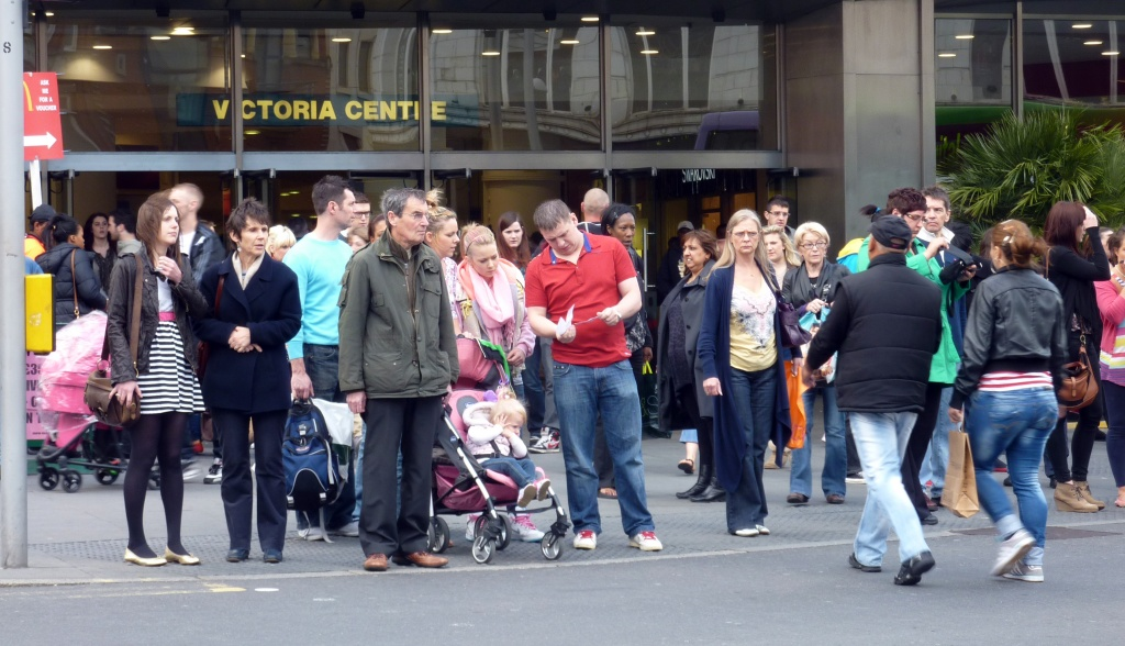 Victoria Centre Pedestrian Crossing - Waiting for the 'Green Man' by phil_howcroft