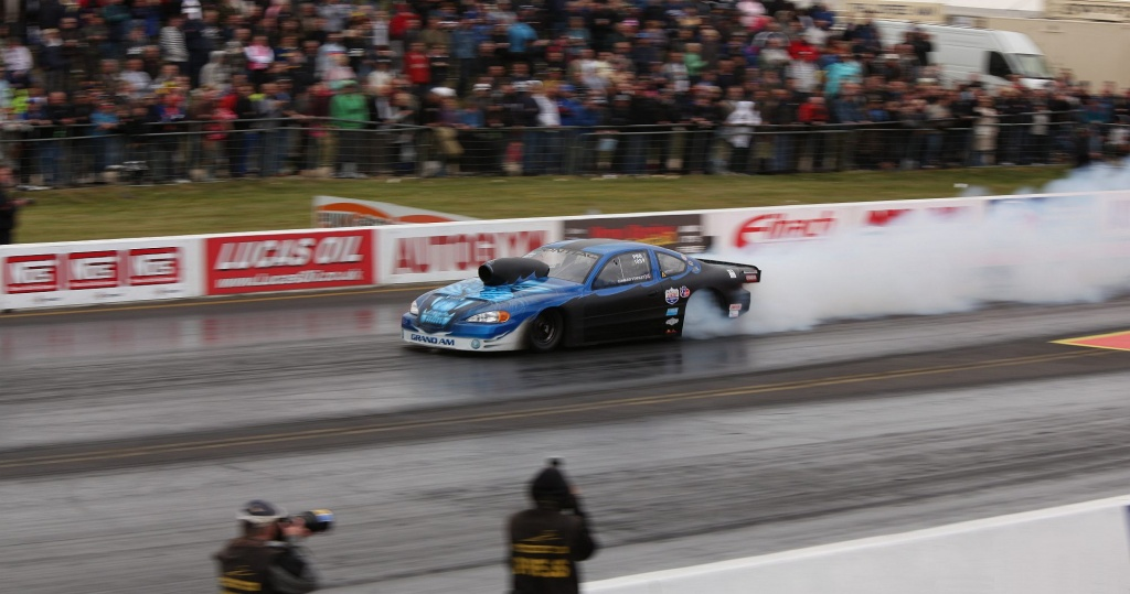 At the Drag Races - The Burnout (1st in a series) by netkonnexion