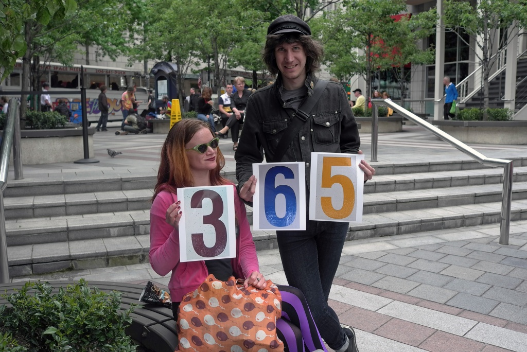 I Celebrate My 365th Photo With A Little Help From the Street Patrons by seattle