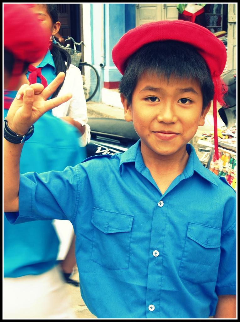 Vietnamese School Boy by lily