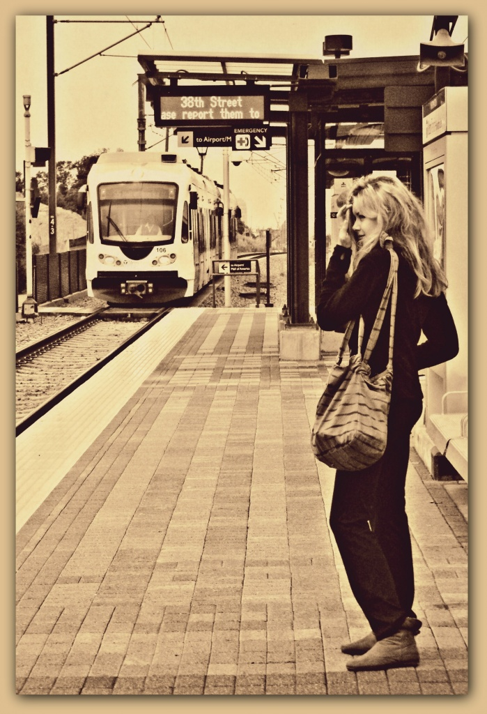 waiting for the train by pfmandeville