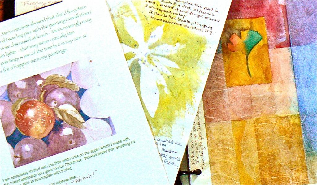 art journal exchange day by reba