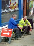 23rd Jul 2011 - Workmen resting (seen from the number 58 bus)