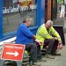 Workmen resting (seen from the number 58 bus) by phil_howcroft