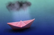 9th Aug 2011 - Pink Paper Boat