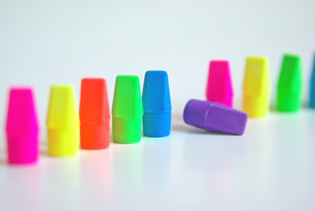 Colorful Erasers by cjphoto