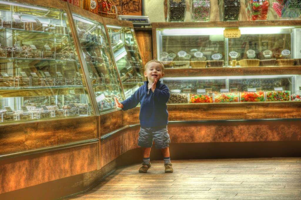 It is true what they say about a kid in a candy store by egad