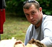 2nd Oct 2011 - Gary Splitting Wood
