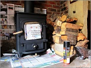 7th Oct 2011 - Sprucing up the woodburner.