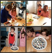 5th May 2010 - The girls make sushi