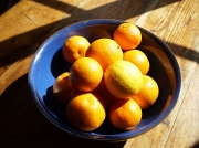 9th May 2010 - Oranges in a blue bowl.