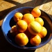 Oranges in a blue bowl. by snowy