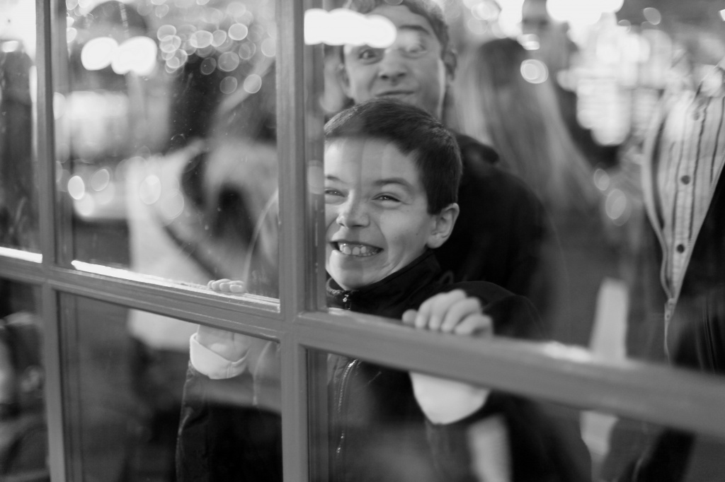 The Excitement of Standing In Line For Santa! by seattle