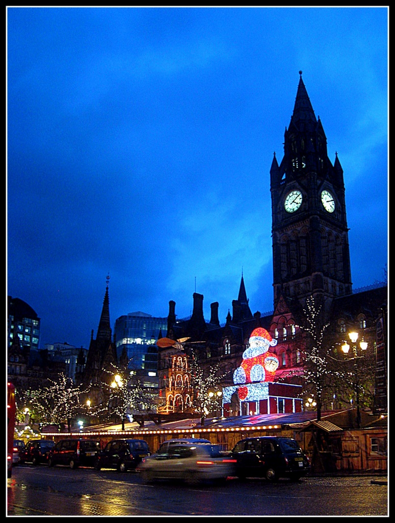 Christmas lights in Albert Square, Manchester by sarahhorsfall