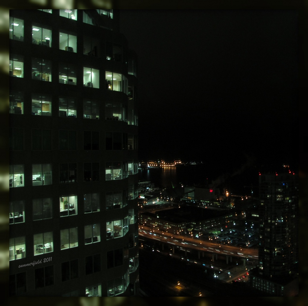 night falls on downtown toronto by summerfield