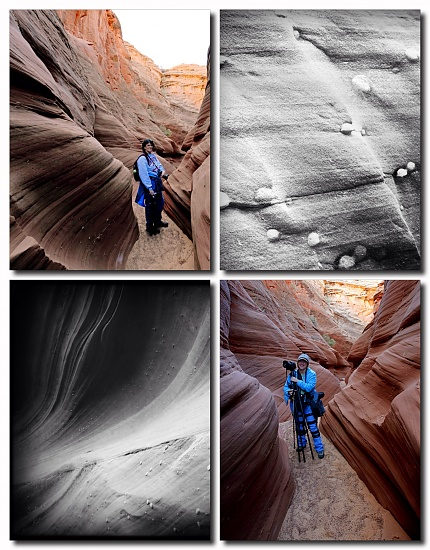 Jenn and Moi, Water Holes Canyon near Page, AZ by pixelchix