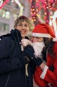 17th Dec 2011 - Santa Listening To The Ferret's Wish List For Christmas