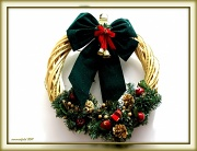 """20th Dec 2011 - things that say """"merry Christmas"""" - wreaths"""