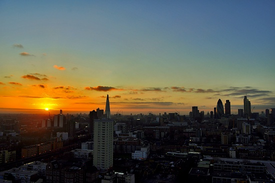 Sunset Over London Town by andycoleborn