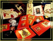 """22nd Dec 2011 - things that say """"merry Christmas"""" - greeting cards"""