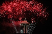 31st Dec 2011 - Red Hot Ending To 2011 From The Space Needle!