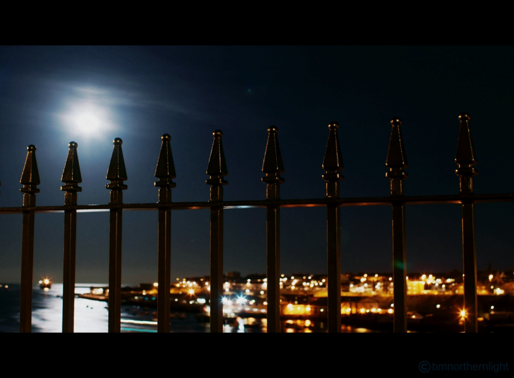 Full Moon over the Harbour by bmnorthernlight