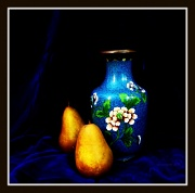 16th Jan 2012 - still life #1 - vase and pears