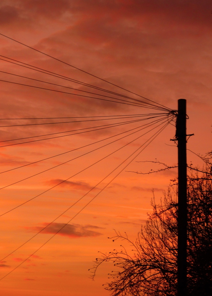Telegraph Pole Sunset by phil_howcroft