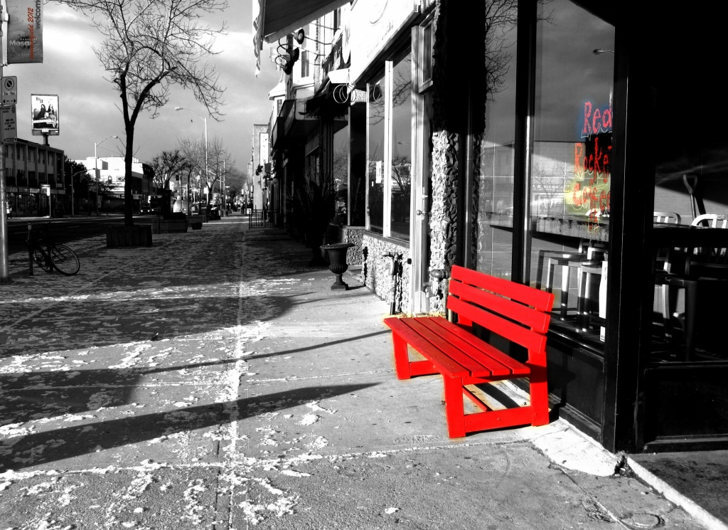 the red rocket bench by summerfield