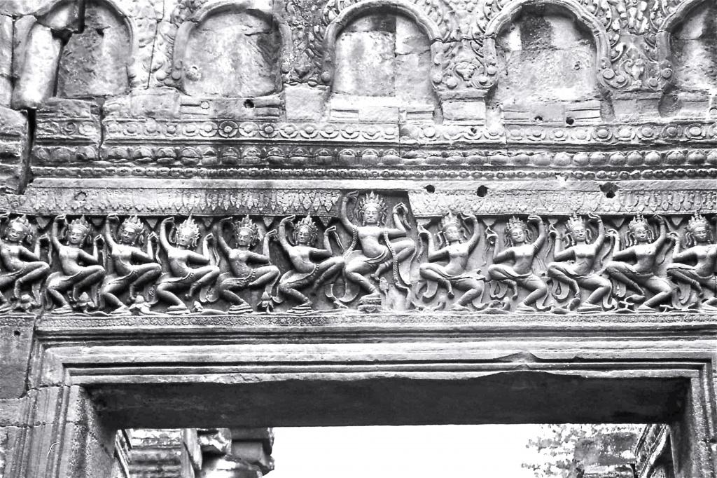 Film Feb - Apsaras over doorway Angkor, Siem Reap, Cambodia by lbmcshutter