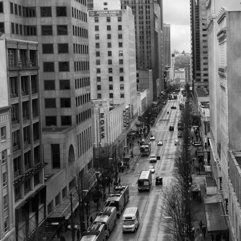 Downtown Seattle on 3rd Ave  Enjoying An Afternoon Without Rain! by seattle