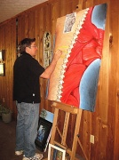 23rd Feb 2012 - Artist at work