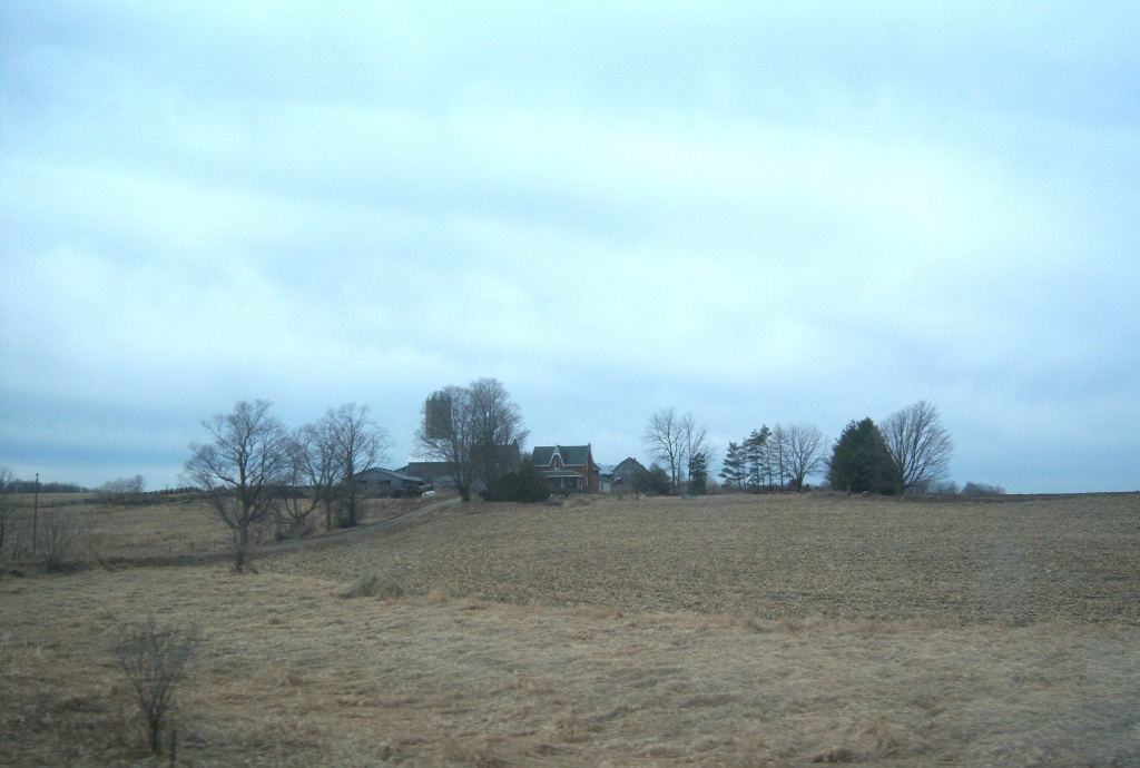 Farmhouse on a hill. by bruni
