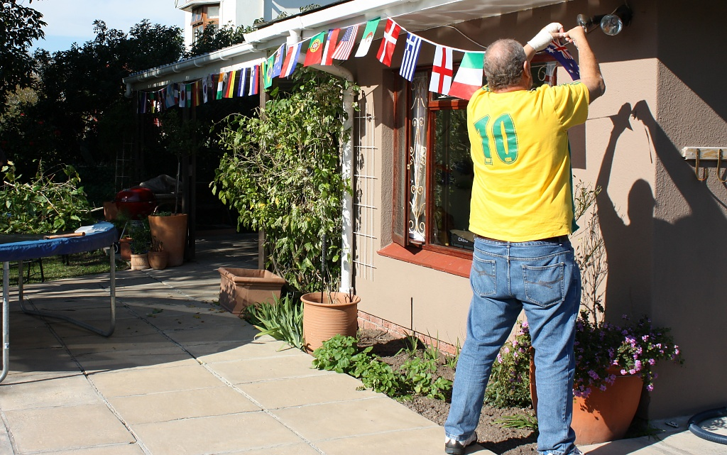 The Soccer World Cup Bunting is up by eleanor