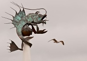 20th Mar 2012 - Mythical Creature And Gull