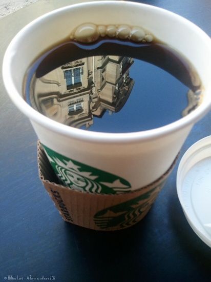 Paris Starbucks reflection by parisouailleurs