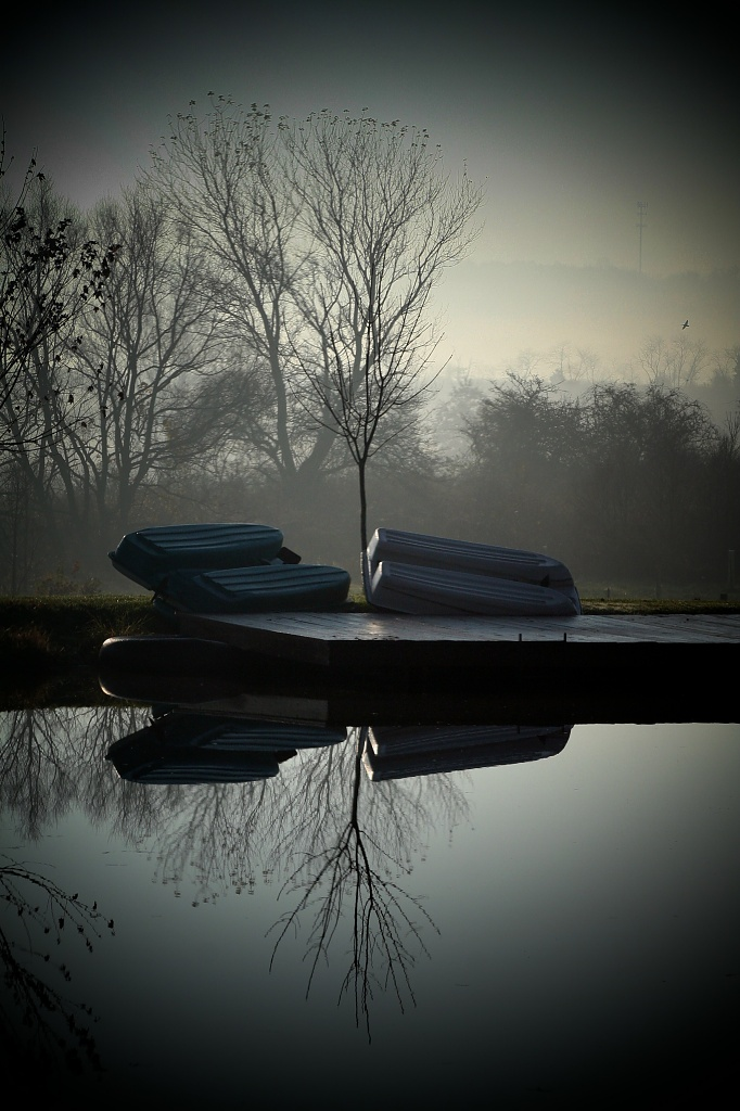 Peaceful Misty Morning by digitalrn
