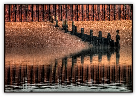 365-90 Groynes at sunset by judithdeacon