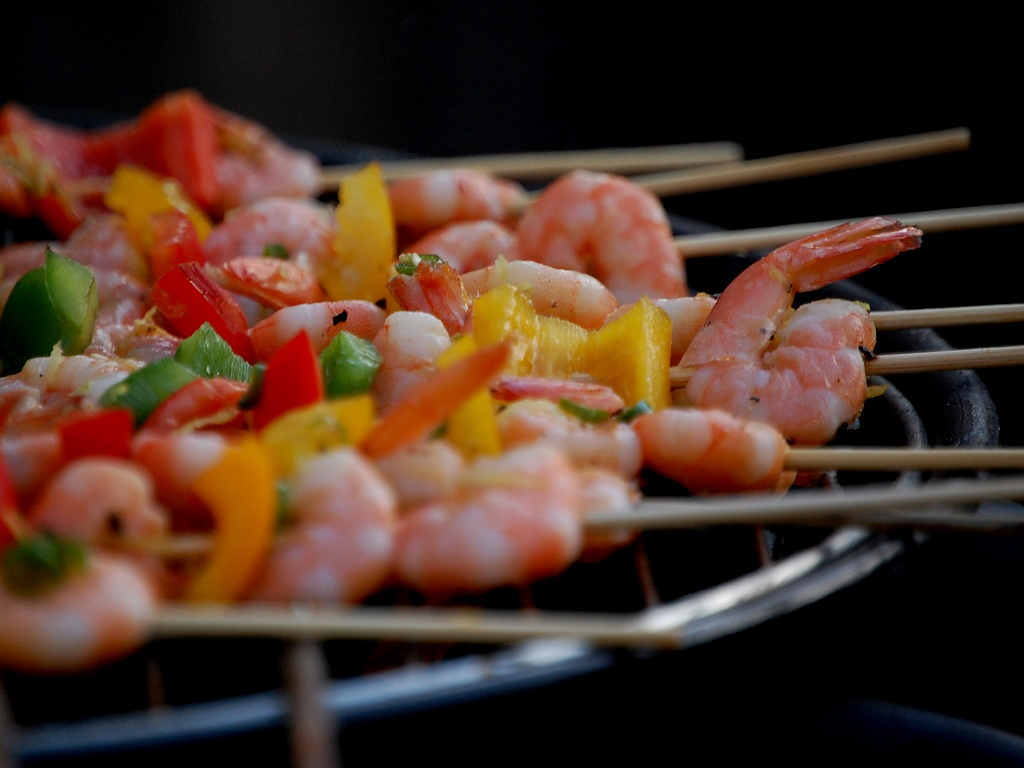 Prawns on the Barbie by andycoleborn