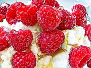 25th Apr 2012 - raspberries, honey and greek yoghurt